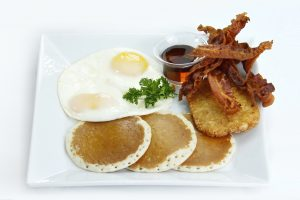 Assiette d'un petit déjeuner anglais