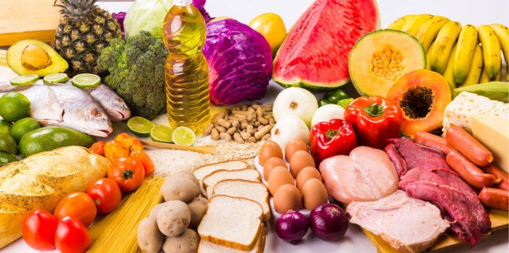 table d'aliments équilibrés