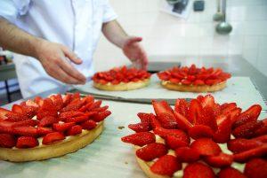 pâtisseries simples à la fraise