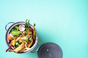poubelle de déchets alimentaires