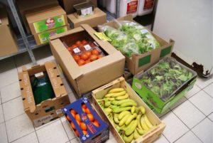 Cartons de stocks de légumes