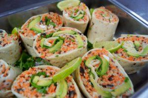 wraps végétariens